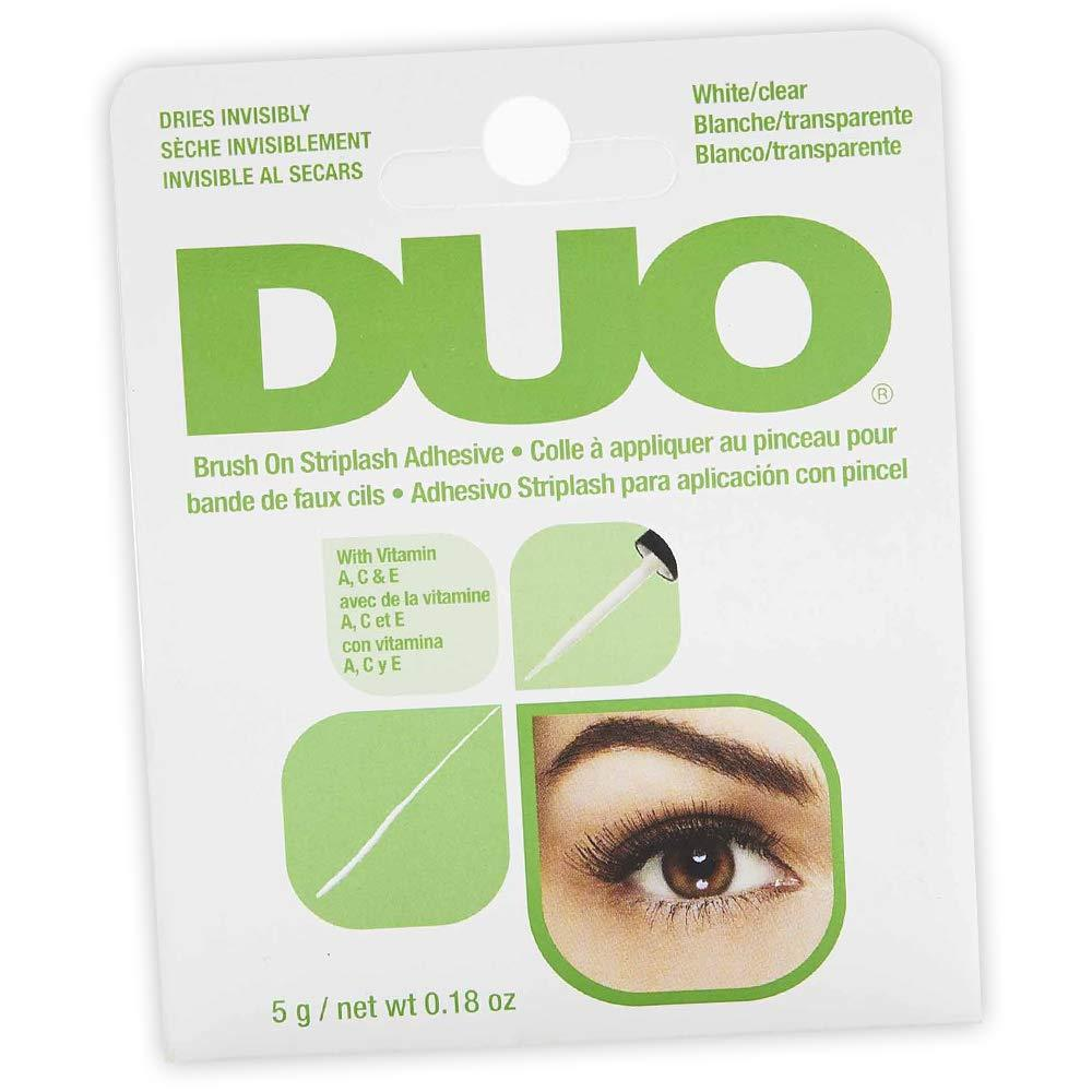 DUO Brush-On Lash Adhesive with Vitamins A, C & E, Clear, 0.18 oz