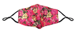 Rose Pattern Reusable Non- Medical Fabric Face Mask W/ Filter Pocket