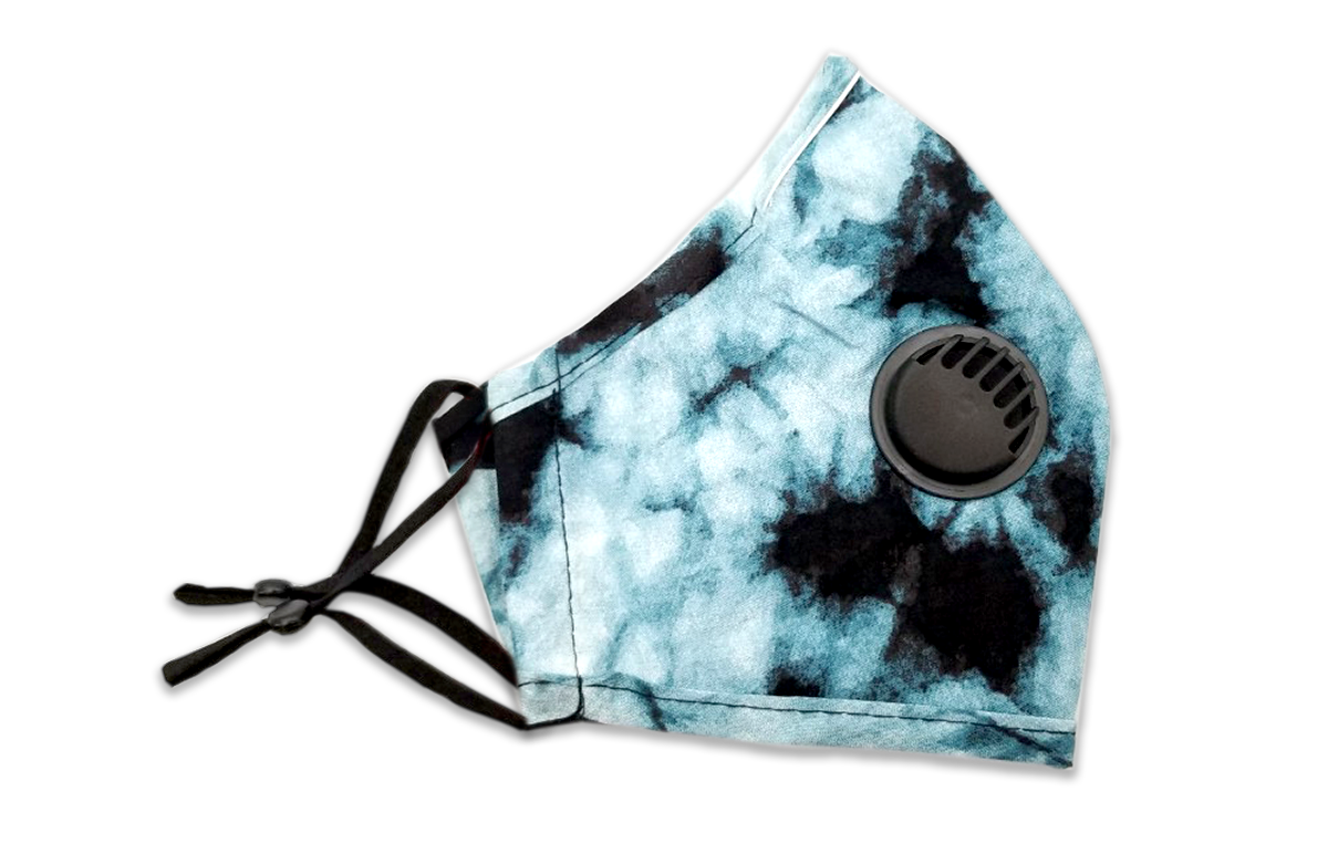 Tie Dye Pattern Reusable Non- Medical Fabric Face Mask W/ Filter Pocket