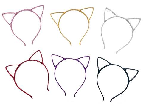 Cute and Sexy Attractive Fancy Color Cat Ear HeadBand Hair Band-Black, Gold, Pink, Purple, Red, Silver