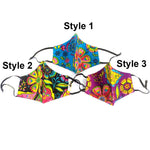 Load image into Gallery viewer, Multi Color Flower Prin Non-Medical Fashion Masks