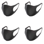 Load image into Gallery viewer, 4 Packs Fashion Unisex Reusable Anti-Dust Protective Sponge Face Masks-Dark Gray