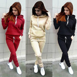 Women Basic Hoodies Pant Set Casual 2 Piece Set