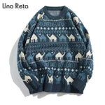 Load image into Gallery viewer, Men Retro Print Pullover Pull Casual Loose Soft Sweatshirts