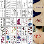 Load image into Gallery viewer, 30pcs/set Waterproof Temporary Tattoo Sticker Cartoon geometric Cat Panda Water Transfer Fake Tatoo for Women Girl