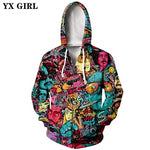 Load image into Gallery viewer, Multi Color Casual Movie Inspired Print 3D Hoodie and Sweatshirt