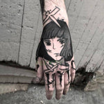Load image into Gallery viewer, Japan anime Inspired Waterproof Temporary Tattoo Sticker for Hand