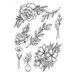 Load image into Gallery viewer, 1 PC Fashion Women Black Roses Design Full Flower Arm Temporary Tattoo Sticker