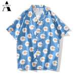 Load image into Gallery viewer, Daisy Flower Print Hip Hop Hawaiian Shirts