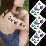 Body Love Wave Small Size Trendy Waterproof Temporary Tattoo Stickers For Women