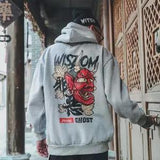 Fashion Men Cool Men Hip Hop Hoodies Japanese Casual Sweatshirts Streetwear Men Women Loose Pullover Harajuku Devil Hoodie Male