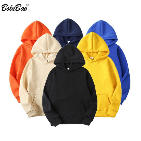 Men's Basic Style Solid Color Casual Pullover Hoodies Sweatshirt - Unisex