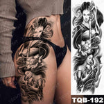 Load image into Gallery viewer, Large Arm Sleeve Tattoo Japanese Geisha Waterproof Temporary Tattoos Stickers