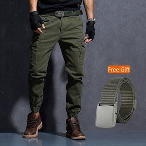 Men's Joggers Casual Military Cargo Pants W/ Multi Pocket