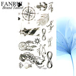 Load image into Gallery viewer, 25 Desgin Cool Letter Temporary Leaves Tattoo Branch Flower Waterproof Tattoo Women Body Arm Art Finger Tatto Stickers Men Hand