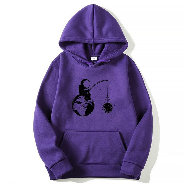 Fashion Brand Men's Hoodies Astronaut funny design printing Blended cotton Spring Autumn Male Casual hip hop Sweatshirts hoodie