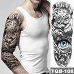 Load image into Gallery viewer, Large Arm Sleeve Tattoo Hell Devil Satan Lucifer Waterproof Temporary Tattoos Stickers