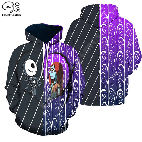 Halloween Nightmare before Christmas jack skellington Horror 3D Print Hoodies