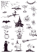 Load image into Gallery viewer, Rocooart Halloween Luminous Glowing in Dark Waterproof Temporary Tattoo Stickers