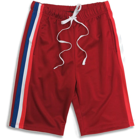 Henry & William | Men's Triple Striped Track Shorts with Pockets