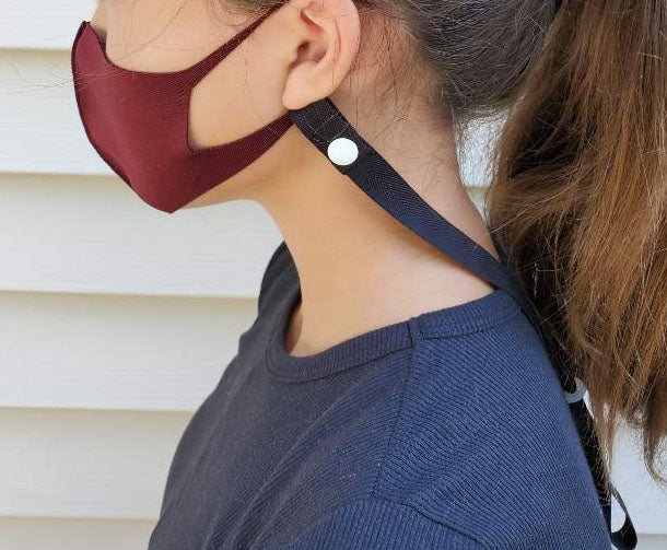 HandMade Mask Strap w/Adjustable Length & snap-on closure- for Adult&Kids
