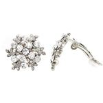 Load image into Gallery viewer, Snow Pattern Pave Crystal Clip On Earrings   gemgem jewelry.myshopify.com
