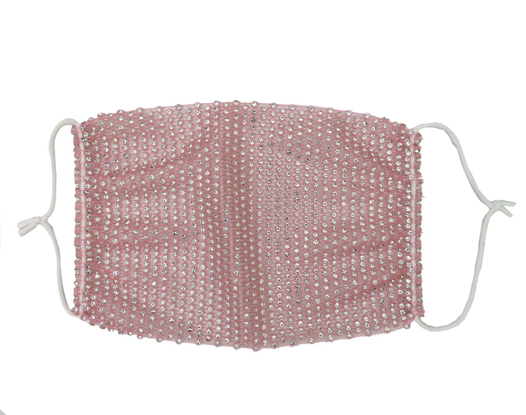 Bling Rhinestone Stretchable face mask, Reusable washable, Fashionable Triple layer