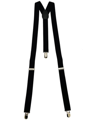 "1"" Wide Y Shaped Suspenders Heavy Duty Strong Clips Adjustable Elastic Braces"