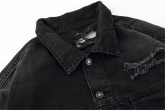 Veste en jean FBI Warning