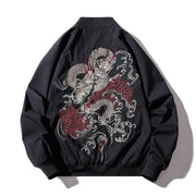 Veste bombers broderie chinoise