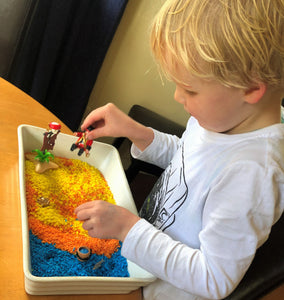 Pirate Play in Sensory Rice