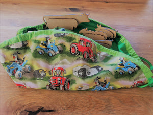 Reversible Drawstring Farm Playmat