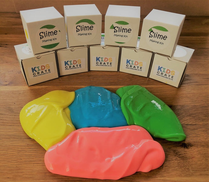 4 great Kids Crate slime colours to choose from.
