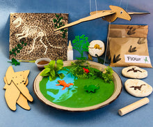 Dinosaur crafts for kids, flying pterodactyl, swamp slime, salt dough fossils and a Fossil canvas