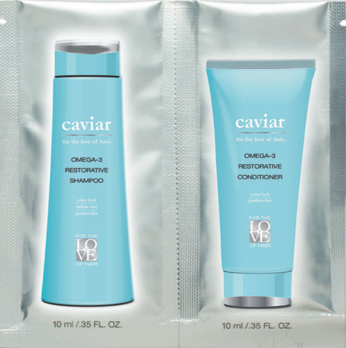 Caviar Shampoo and Conditioner Travel Size 4 Pack