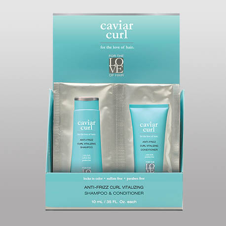 Caviar Curl Shampoo and Conditioner Travel Size 4 Pack