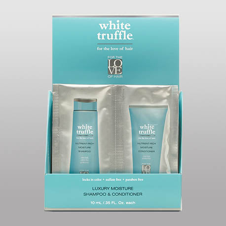 White Truffle Shampoo and Conditioner Travel Size 4 Pack