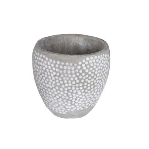 Dart Dot Planter Cement 14x14cm