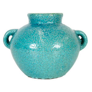 Tang Urn with Handles Rustic Blue 21x20cm
