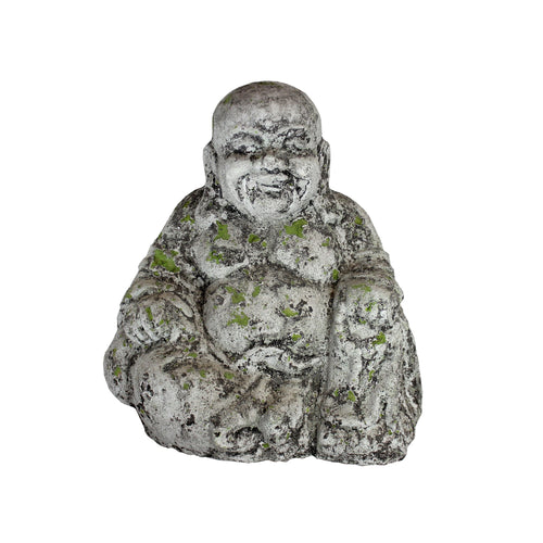 Tang Happy Buddha Antique Moss 40x28x41cm
