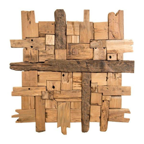 Iridami Wood Decoration Recycled Hardwood 100cm