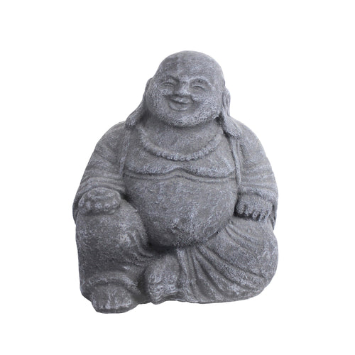 Iridami Happy Buddha BlackWash 19x19cm