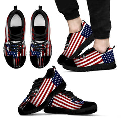 American Flag Punisher Skull Sneaker