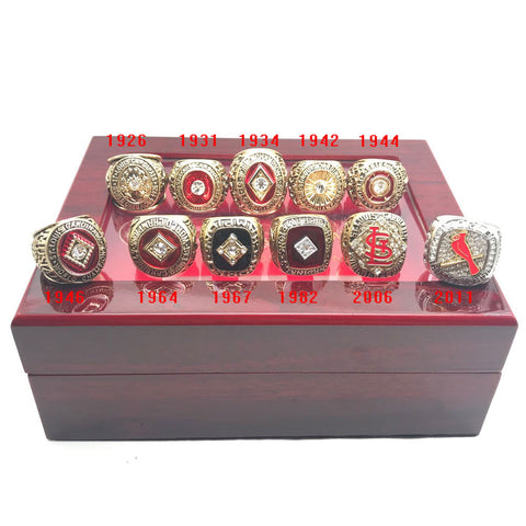 St Louis Cardinals 11 rings set World Series Championship