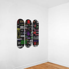 3x-skateboard Wall Art Hard Rock Band