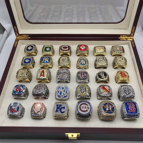 MLB Championship 30 Rings Set From 1986 to 2018