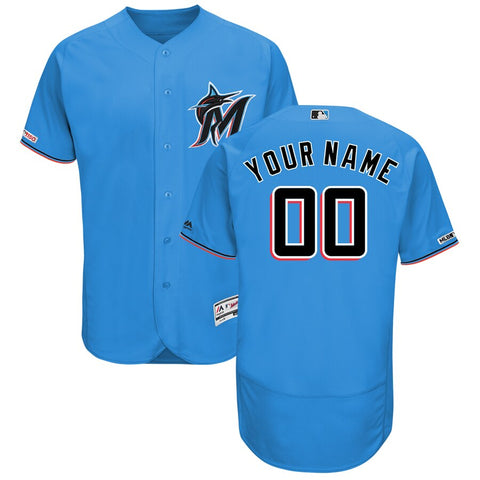 Miami Marlins Majestic Flex Base Collection 2019 Jersey – Blue