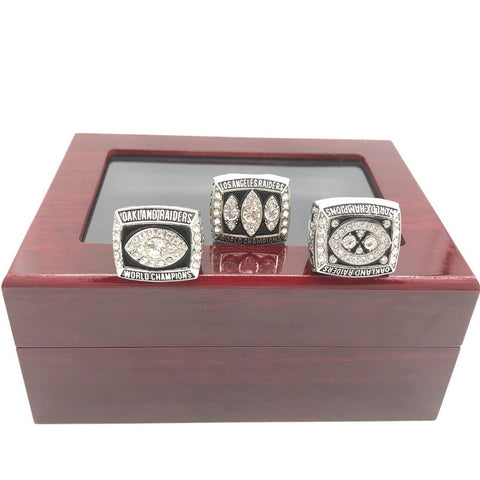 Oakland Raiders Championships Ring Set