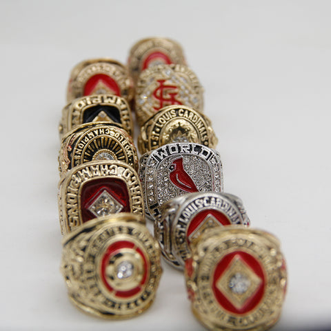 St Louis Cardinals World Series Championship Rings Set