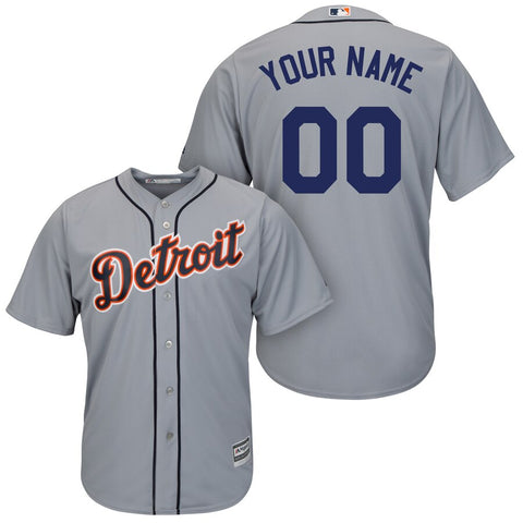 Detroit Tigers Majestic Cool Base Jersey – Gray